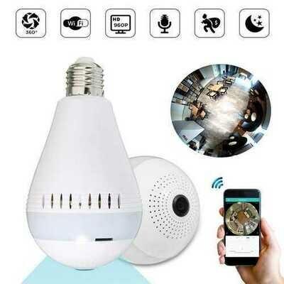 E27 360?° Panoramic Wireless Hidden WIFI 960P HD 130W Camera LED Light Bulb Security Lamp AC220V