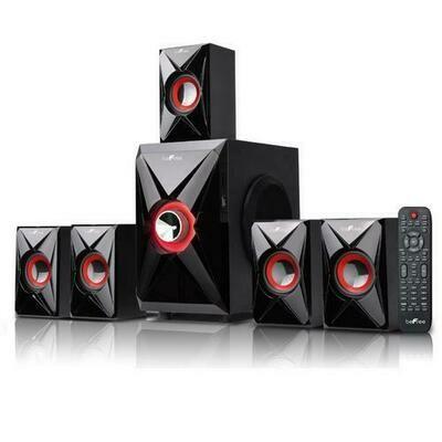 beFree Sound 5.1 Channel Bluetooth Surround Sound Speaker System in Orange