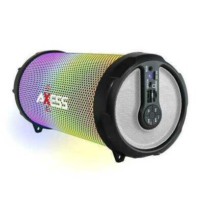 Axess LED Bluetooth Media Speaker In Silver