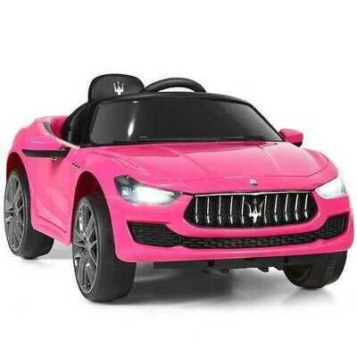 12 V Remote Control Maserati Licensed Kids Ride on Car-Pink