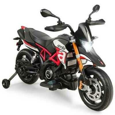 Aprilia Licensed 12V Kids Ride-On Motorcycle-Red