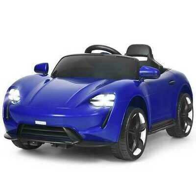 12V Kids Ride On Car with MP3 & LED Light-Blue