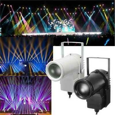 5W RGBW LED Stage Light Spin Effect Pinspot Party Show Light for Disco KTV DJ AC90-240V