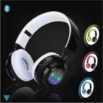 Disco Scene Glow In The Dark LED Bluetooth Headphones