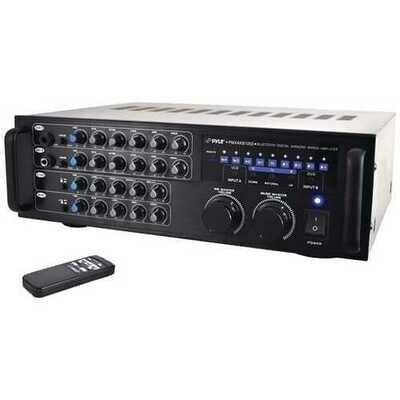 Pyle Pro PMXAKB1000 1,000-Watt Bluetooth Stereo Mixer Karaoke Amp