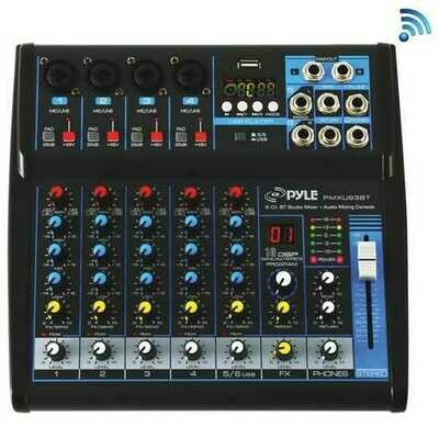 Pyle 6-channel Bluetooth Studio Mixer (pack of 1 Ea)