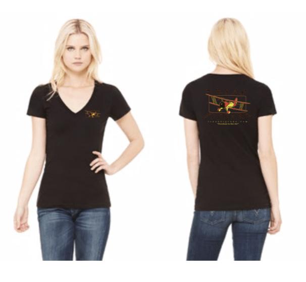 On Sale! Ladies V-Neck Black