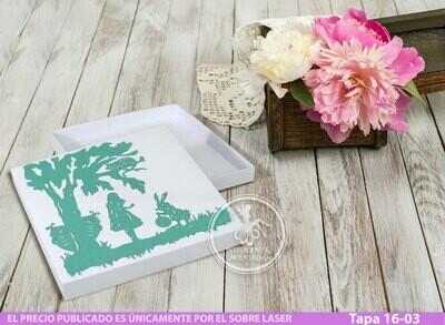 DIY Caja con cubierta laser Tapa 16-03