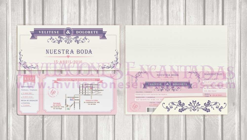 Invitación Ticket con Porta Ticket 04