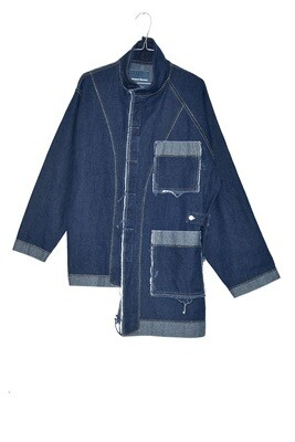 COAT BLUE INDIGO POCKETS - WASHED