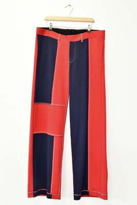 PANTS - RED MULTI COLOUR - PATCHWORK D. JERSEY