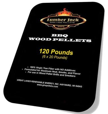 120 Pound Lumber Jack BBQ Pellets Variety Pack (Select 6 20-Pound Varieties)