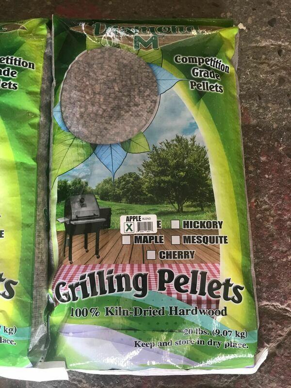 Diamond M Apple Blend Hardwood Grilling Pellets (Free Shipping)