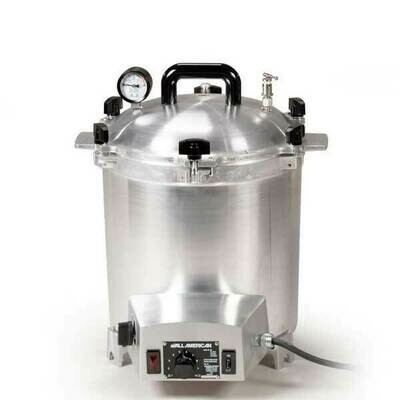All American 25 Quart Benchtop Sterilizer - 240 volt