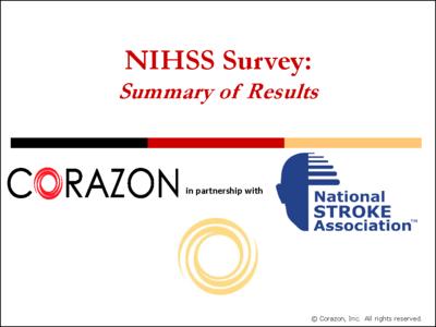 NIHSS Survey Summary