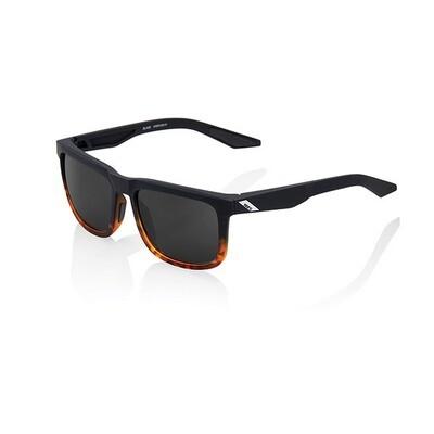 Occhiali da sole 100% BLAKE - SOFT TACT FADE BLACK / HAVANA - LENTI A SPECCHIO NERE