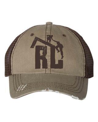 Distressed Rooftop Trucker Hat