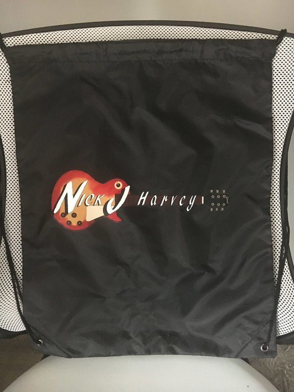 Logo Drawstring Tote Bag