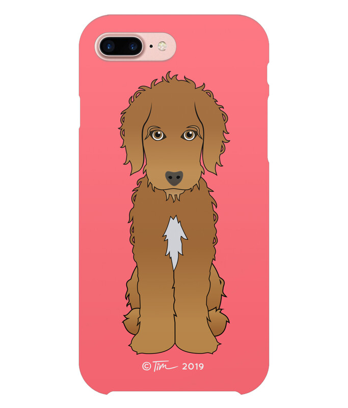 Cockapoo - Brown on Coral