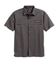 Chemise à Manches Courtes pour Homme Harley-Davidson® Coton Gris 96006-09VM