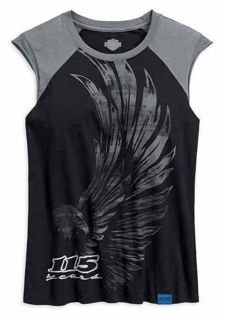T-Shirt Ajusté pour Femme Harley-Davidson® 115e anniversaire Noir 99028-18VW
