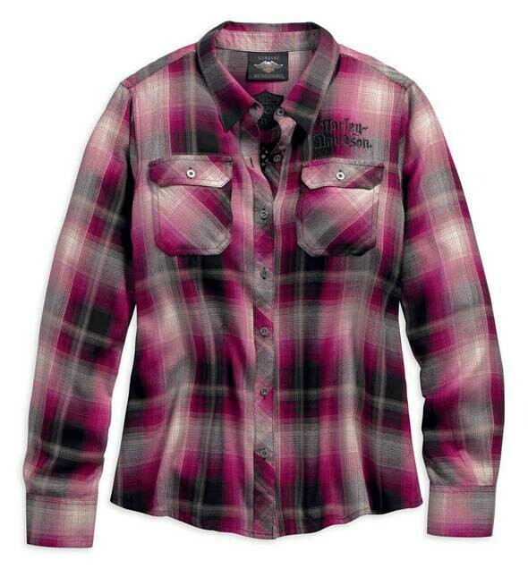 Chemise pour Femme Harley-Davidson® Hearts and Serpents Rose 96306-19VW