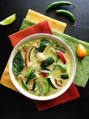 Thai Tofu and Vegetable Green Curry