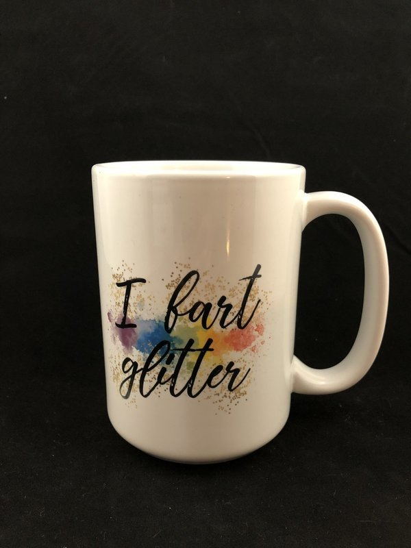 I Fart Glitter Mug (Black Accent)