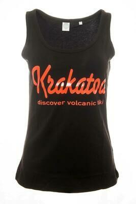 Krakatoa UV Reactive Ink Tiki Dive Bar Ladies Vest  - 'Krakatoa / Discover Volcanic Tiki'