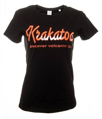Krakatoa UV Reactive Ink Tiki Dive Bar Ladies T-Shirt / Tee  - 'Krakatoa / Discover Volcanic Tiki'
