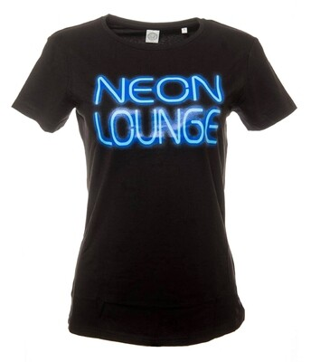 Krakatoa UV Reactive Ink Tiki Dive Bar Ladies T-Shirt / Tee - 'Neon Lounge'
