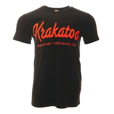 Krakatoa UV Reactive Ink Tiki Dive Bar Mens T-Shirt / Tee - 'Krakatoa / Discover Volcanic Tiki'