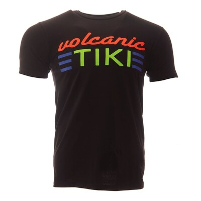 Krakatoa UV Reactive Ink Tiki Dive Bar Mens T-Shirt / Tee - 'Volcanic Tiki'