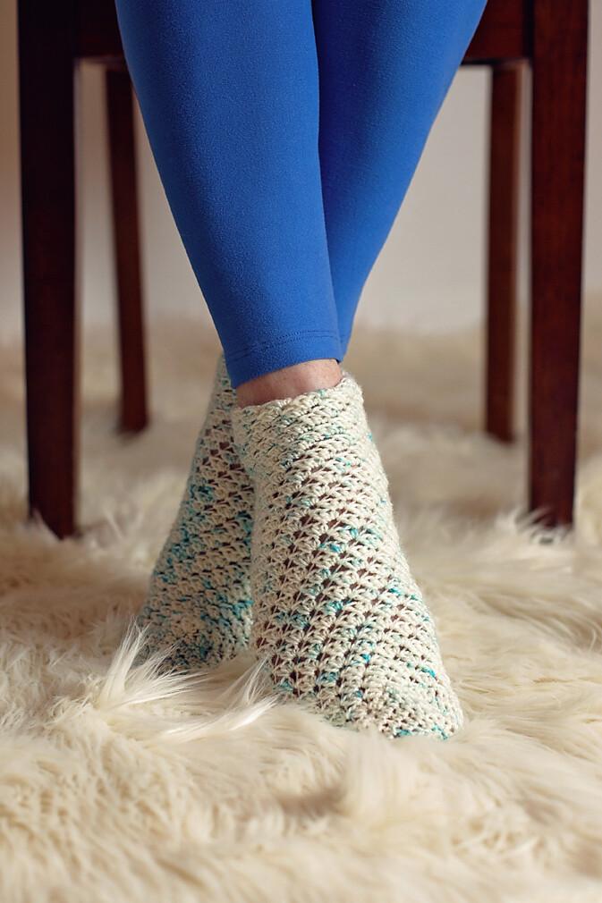 Sparkling Socks Crochet Pattern