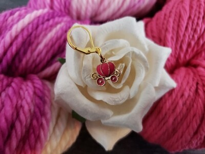 Dream is a Wish Pink Pumpkin Carriage Stitch Marker