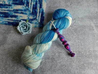 Bluebonnet Shawl Crochet Kit (One Skein) Ready to Ship
