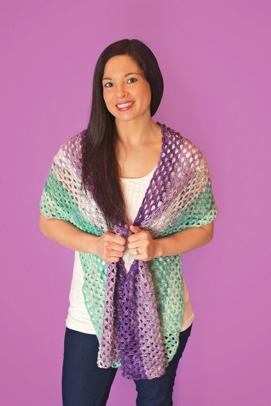 Mermaid Shawl Crochet Kit Ready to Ship
