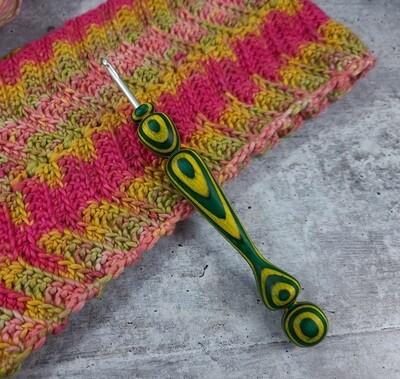 Tropical Rose Crochet Hook