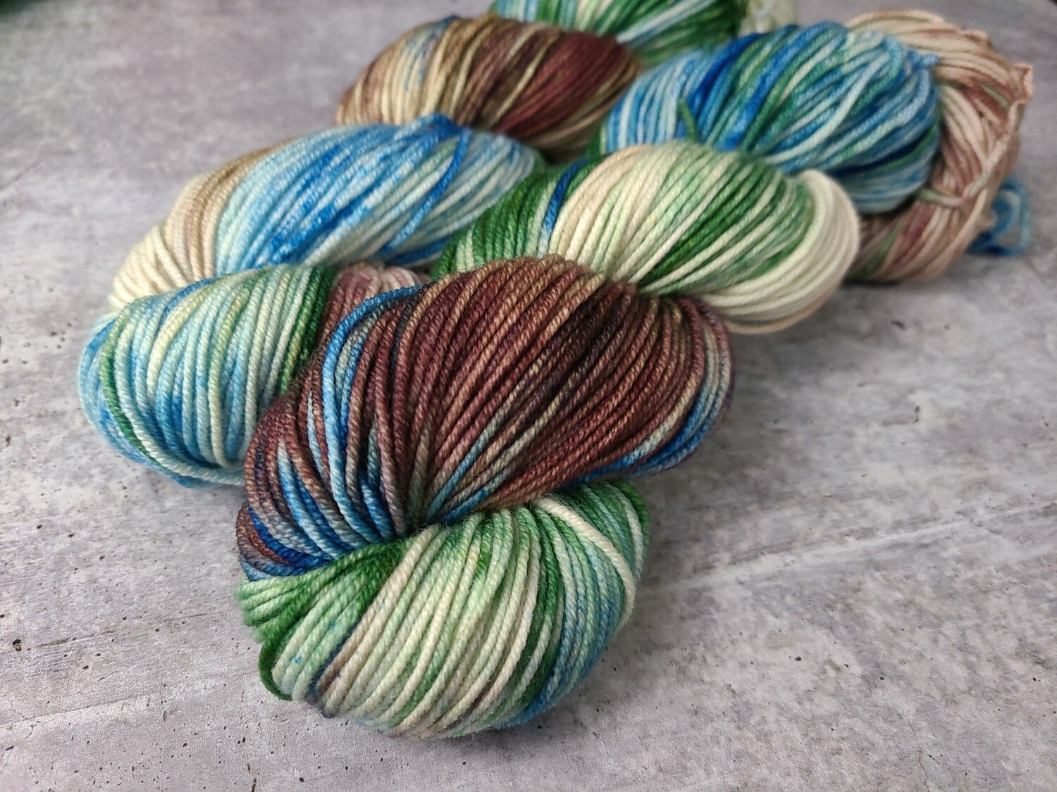 Peacock Feathers Worsted Hand Dyed Yarn Ready to Ship