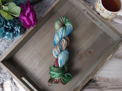 Peacock Feathers Hand Dyed Yarn