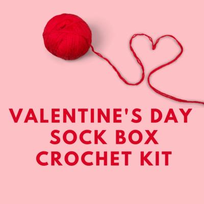 Valentine's Day Sock Box Crochet Kit