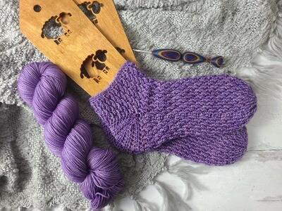 Lilac Socks Crochet Kit