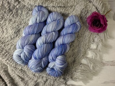 Snow Blue Hand Dyed Yarn Ready to Ship