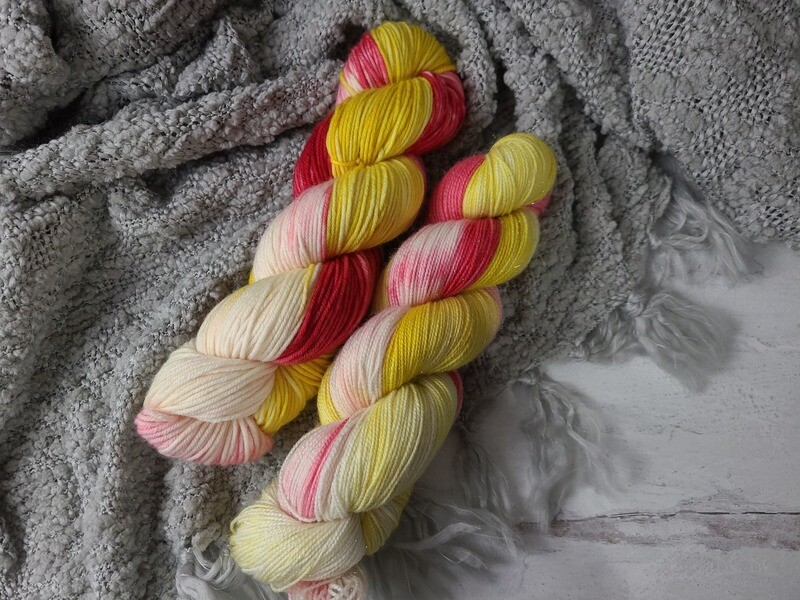 Ornaments (DK and Sparkle Sock) Hand Dyed Yarn Ready to Ship