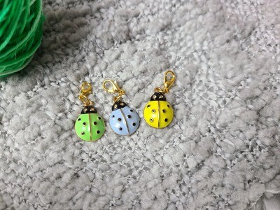 Ladybug Stitch Marker Set