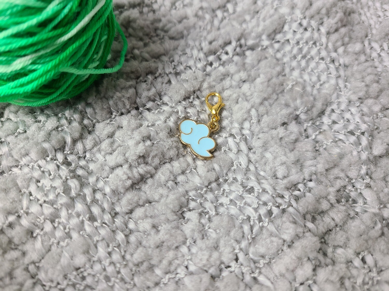 Blue Rain Cloud Stitch Marker