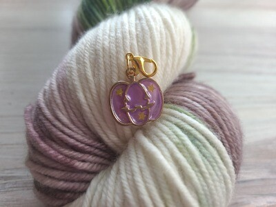 Purple Pumpkin Stitch Marker