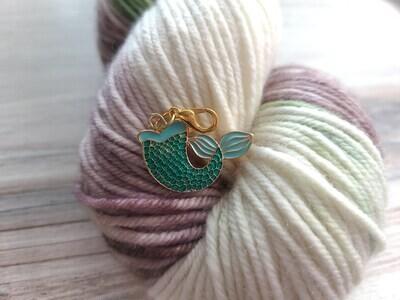 Teal Mermaid Tail Stitch Marker