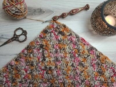Square #13 Egypt Crochet Square (Destination Blanket)