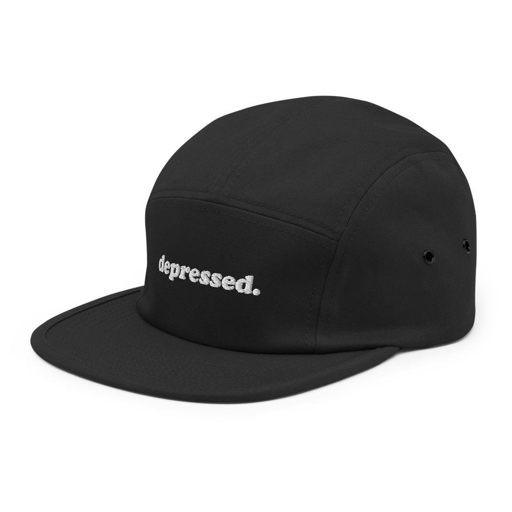 depressed. Five Panel Hat